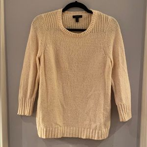 Cream J Crew long sleeve sweater